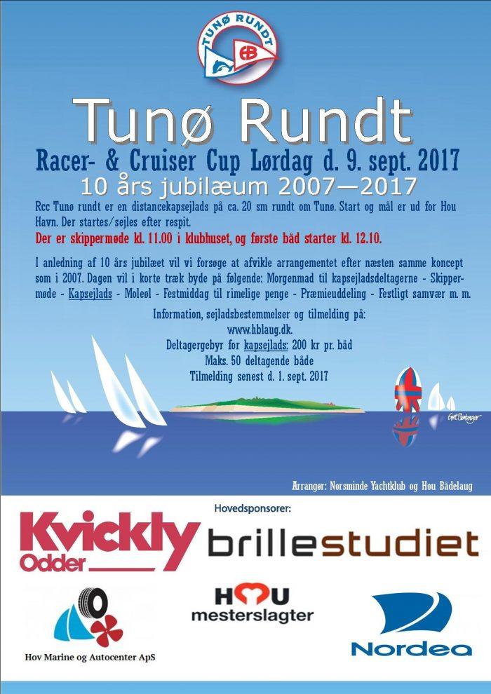 Tunø Rundt 2017 Plakat Master